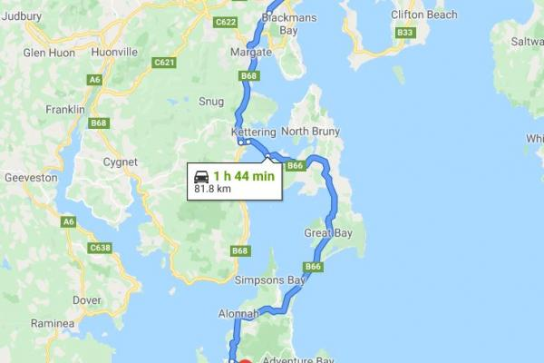 Inala Nature Tours - Bruny Island - Tasmania - Australia - Directions
